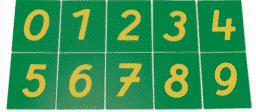 Les chiffres rugueux de la pédagogie Montessori