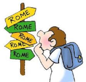 todos los caminos llelvan a roma