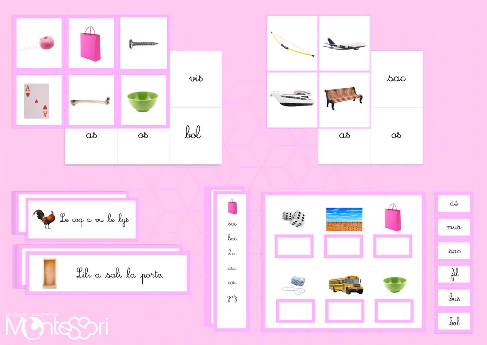série rose Montessori