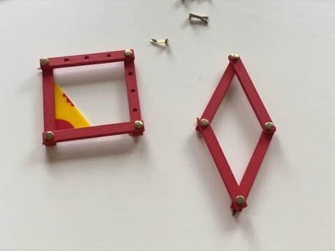 losange et carré - - figures planes géométriques