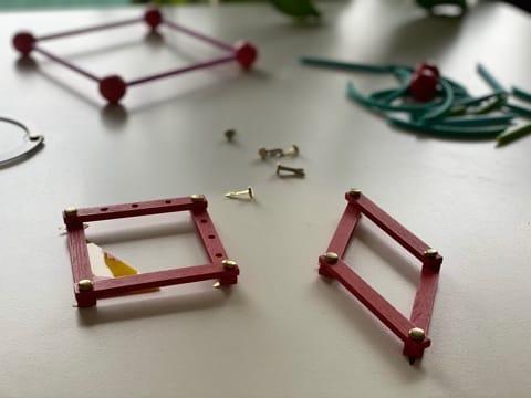 losange et carré - figures planes géométriques