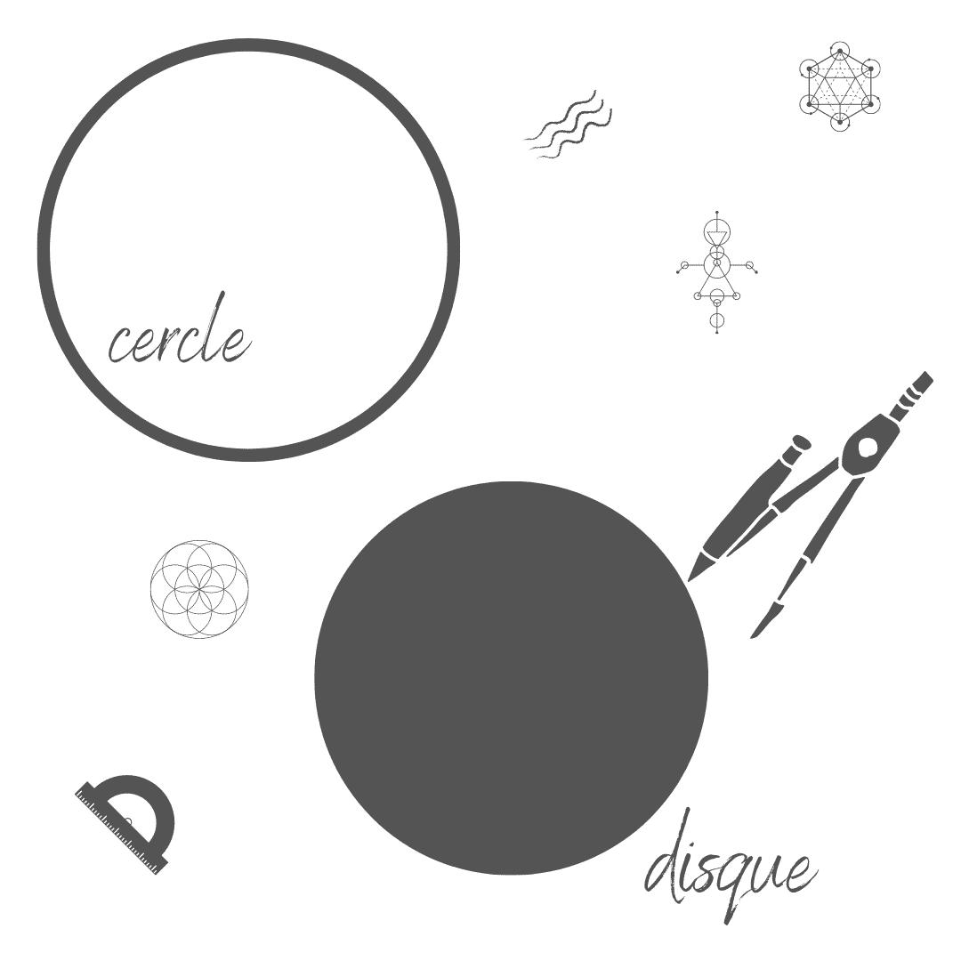 cercle et disque - figures planes géométriques