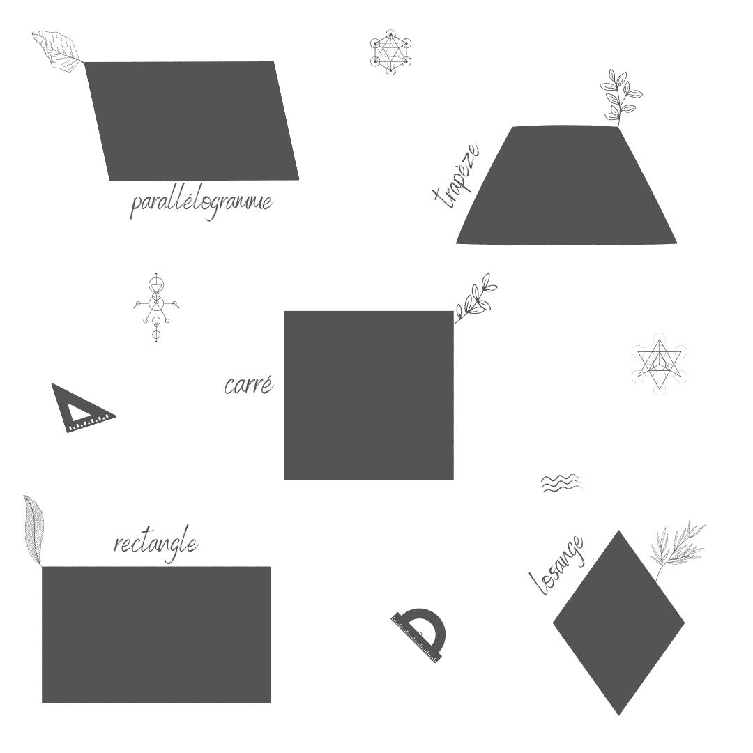 quadrilatères - figures planes géométriques