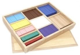 Réglettes Montessori de calcul