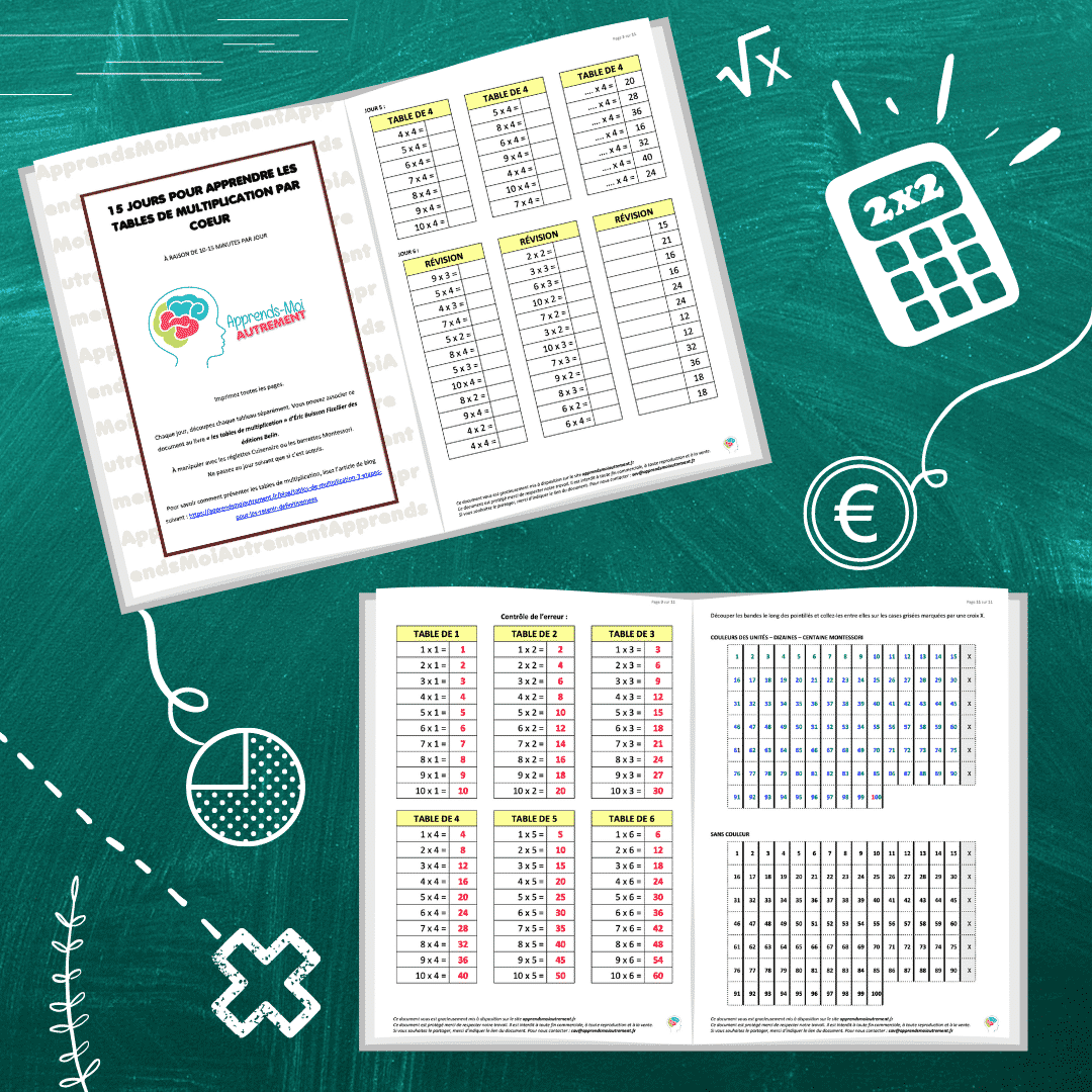 mémoriser les tables de multiplication