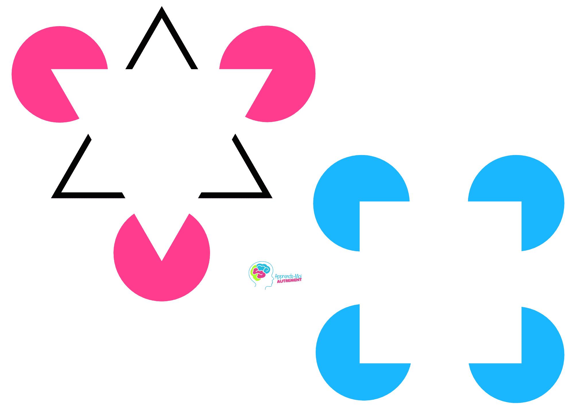 illusions d'optique - les formes de kanizsa