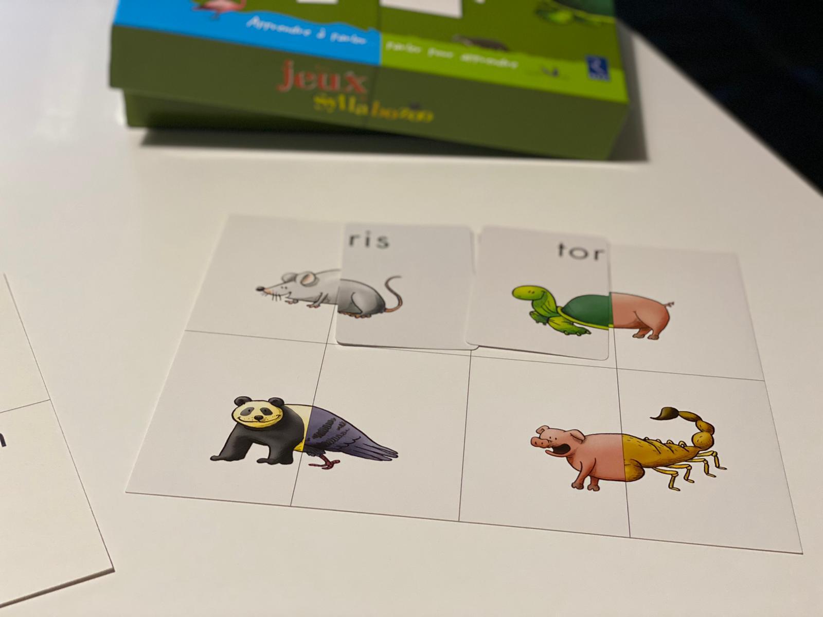 Jeux de syllabes pour apprendre à lire